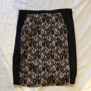 The Limited, Black, Polyester, Lace Skirt